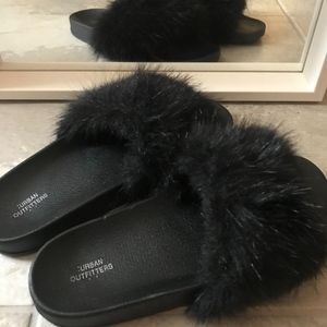 Urban Outfitters Fuzzy Slippers